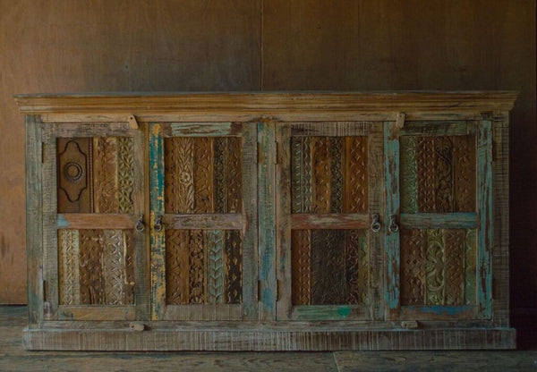 Woodblock Sideboard with Four Doors
