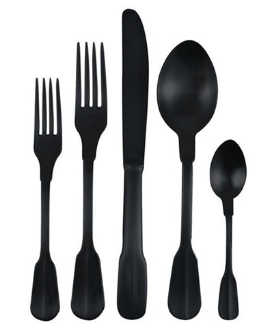 Canvas Home Matte Black Madrid Cutlery Set - Flatware - Shop Nectar - 1