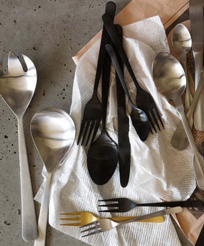 Canvas Home Matte Black Oslo Cutlery Set - Flatware - Shop Nectar - 2