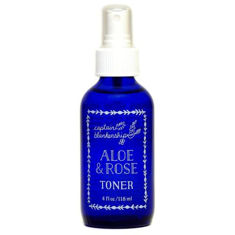Captain Blankenship Organic Aloe & Rose Toner - aloe, american-made, bath, bath-beauty, Beard and Face Oil, beauty, body, body-mists, care, day, fragrance, gift, gifts, handmade, her, Hudson Valley, local, locally made, locally sourced, mothers, organic, rose, skin, skincare, toner, upstate NY
