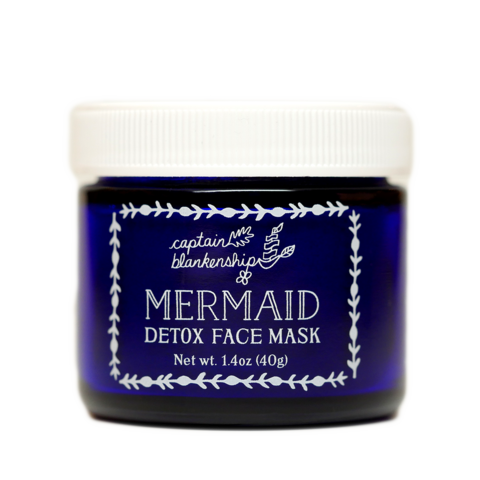 Captain Blankenship Organic Mermaid Detox Face Mask - american-made, bath, bath-beauty, beauty, beauty-hair-care, body, Captain Blankenship, care, clay, day, detox, face mask, face-creams, Gift, gifts, handmade, her, Hudson Valley, local artist, locally sourced, Mermaid, mother's, organic, shop local, skin, skincare, soaps-lotions-creams