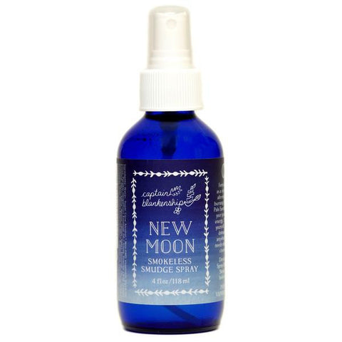 Captain Blankenship New Moon Spray - american-made, bath, bath-beauty, beauty, body, body spray, Captain Blankenship, care, Citrus, Cosmic, day, fragrance, gift, gifts, handmade, her, local, local artist, locally sourced, mothers, organic, Room Spray, room-sprays, skin, skincare, Spray, Ylang Ylang
