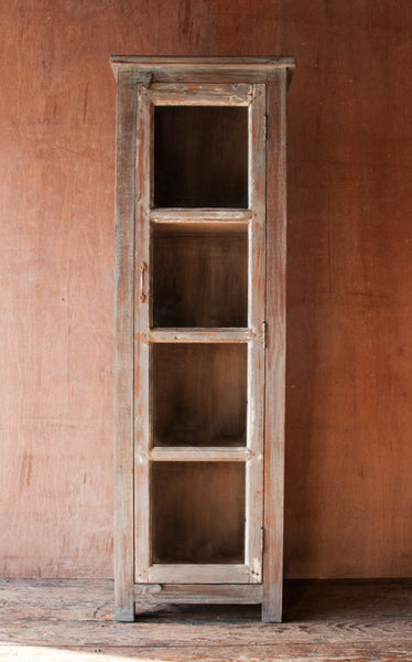 Distressed Wood And Glass Bathroom Wall Cabinet: Rustic Reclaimed Wood And Glass Hutch