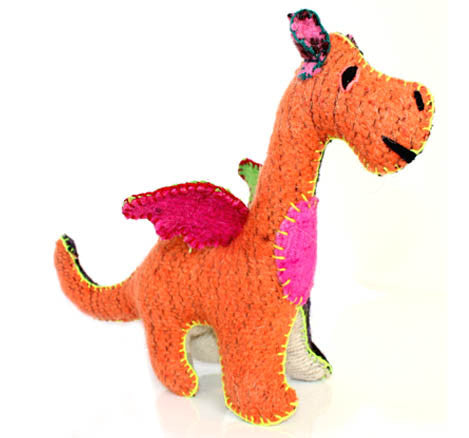 Twoolies Handmade Fair Trade Wool Dragon - Stuffed Animals - Shop Nectar - 1