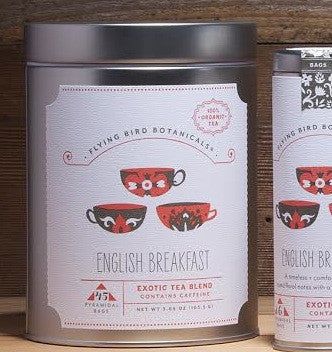 Flying Bird Botanicals English Breakfast Tea - Bagged Tea - Shop Nectar - 2