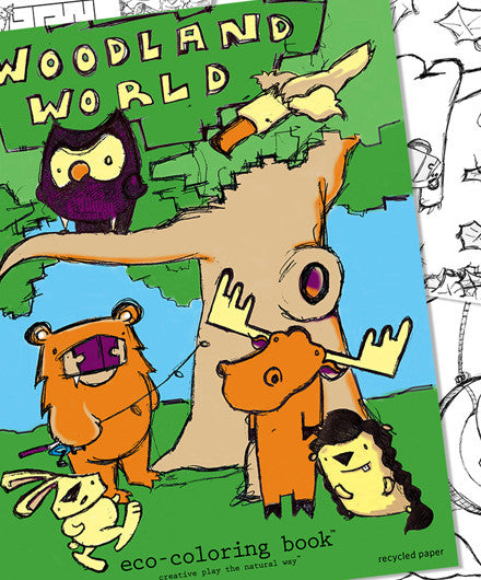 Eco Kids Woodland World Coloring Book - Coloring & Craft Books - Shop Nectar - 1