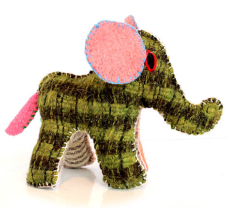 Twoolies Handmade Fair Trade Wool Elephant - assorted-styles, dolls-stuffed-animals, Elephant, fair-trade, handmade, room-decor, stuffed-animals, Twoolies, Wool