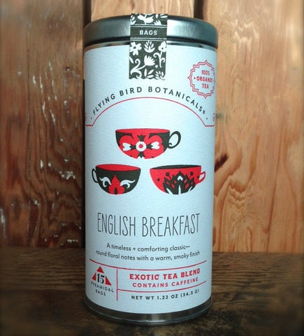 Flying Bird Botanicals English Breakfast Tea - Bagged Tea - Shop Nectar - 1
