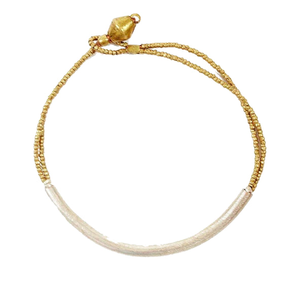 Raven and Lily Fair Trade Gold Tube Bracelet - Bracelets - Shop Nectar