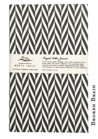 Raven and Lily Fair Trade Recycled Cotton Travel Journal - Journals - Shop Nectar - 1