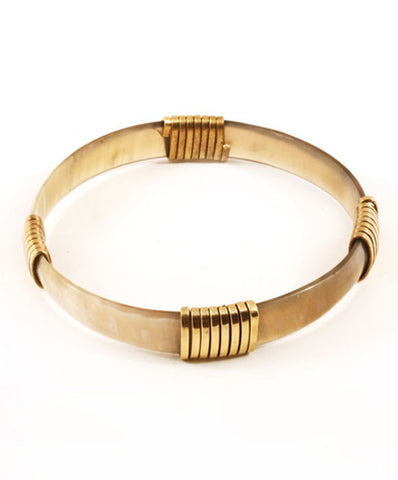 Fair Trade Stackable Horn and Brass Bangle - Bangles - Shop Nectar - 2