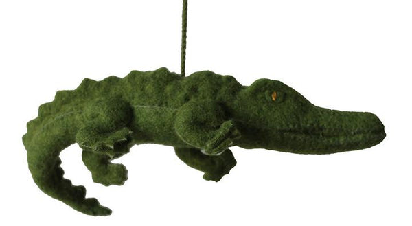 Fair Trade Felt Alligator Ornaments - alligator, animal ornament, decor, Eco, eco friendly, fair-trade, felt, Felted, handmade, hanging-ornaments, holiday-decor, ornament, ornaments, social-responsibility, supporting-women, wool