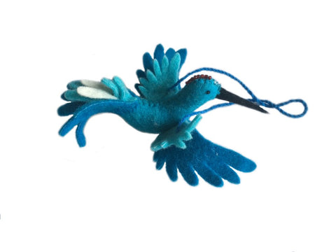 Fair Trade Felt Hummingbird Ornaments - animal ornament, assorted-styles, decor, Eco, eco friendly, fair-trade, felt, Felted, handmade, hanging-ornaments, holiday-decor, Hummingbird, ornament, ornaments, social-responsibility, supporting-women, wool