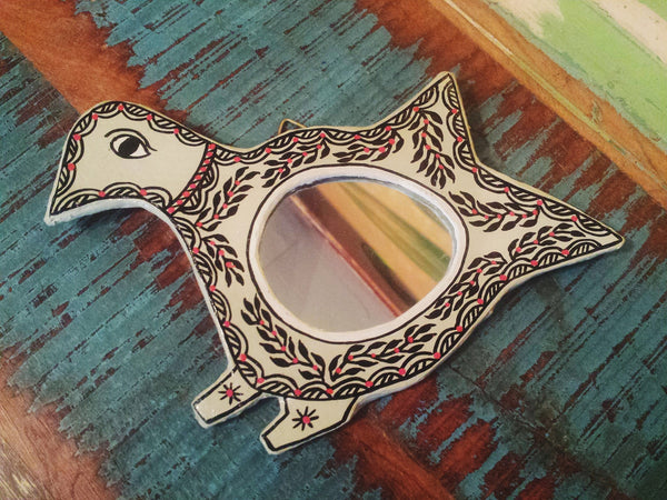 Hand-Painted Fair Trade Bird Mirror