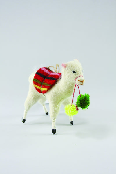 Felt Llama Christmas Ornament - Hanging Ornaments - Shop Nectar
