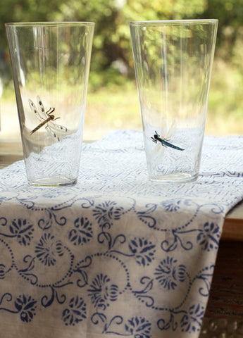 Roost Hand Etched Dragonfly Glasses - Tumblers & Cocktail Glasses - Shop Nectar - 1