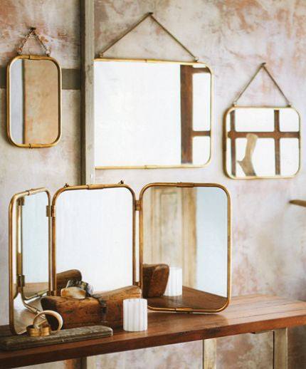 Roost Florin Mirrors - accent-details, Art Deco, assorted-styles, brass, decor, new-arrivals-in-decor, Roost, wall-mirrors