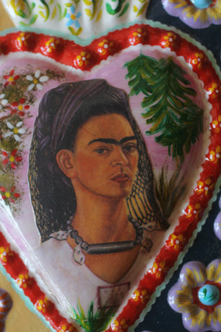 Large Fair Trade Frida Kahlo Heart Wall Hangings - Wall Hangings - Shop Nectar - 4