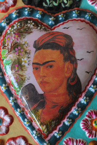 Large Fair Trade Frida Kahlo Heart Wall Hangings - Wall Hangings - Shop Nectar - 5