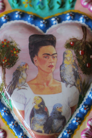 Large Fair Trade Frida Kahlo Heart Wall Hangings - Wall Hangings - Shop Nectar - 6
