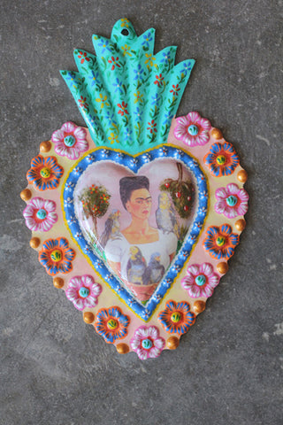 Large Fair Trade Frida Kahlo Heart Wall Hangings - Wall Hangings - Shop Nectar - 2