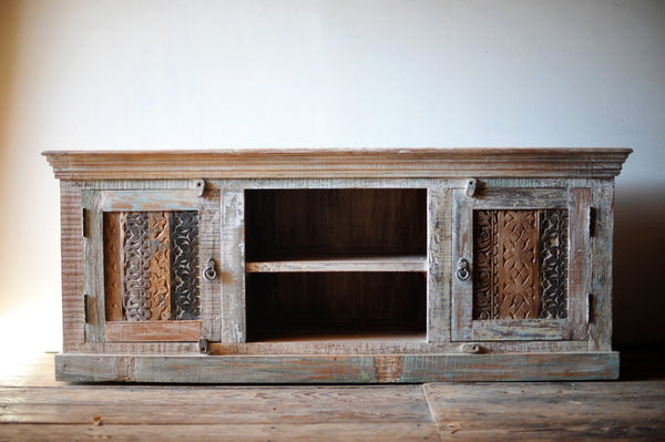 Woodblock Low Console