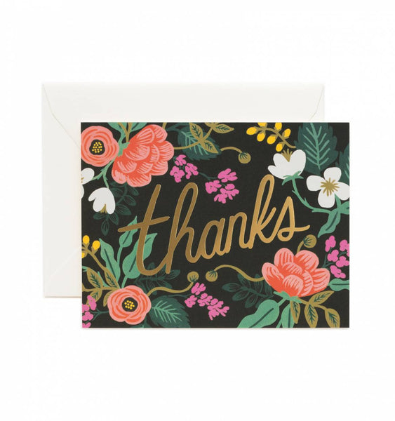 Rifle Paper Co. Floral Thank You Card - Greeting Cards - Shop Nectar