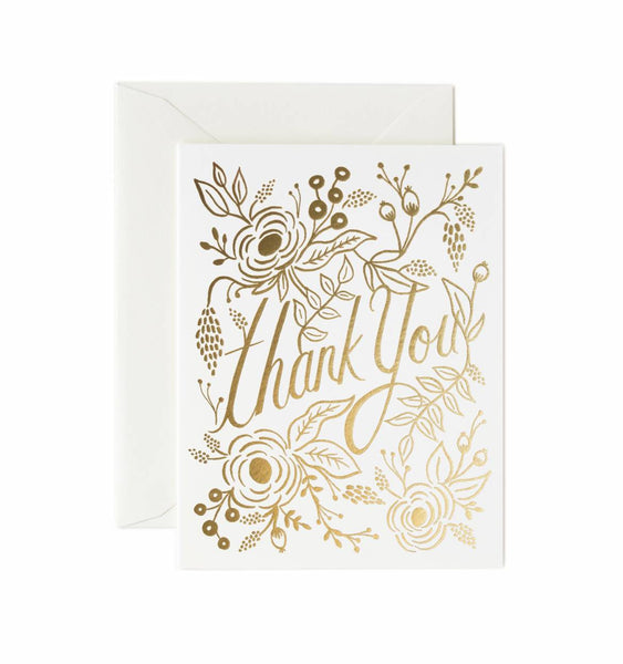 Rifle Paper Co. Marion Gold Thank You Card