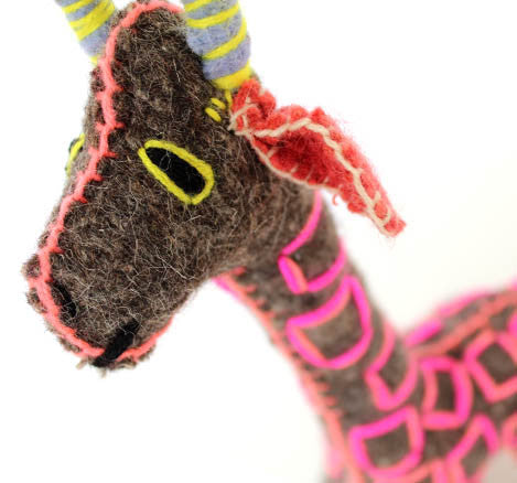 Twoolies Handmade Fair Trade Wool Giraffe - assorted-styles, dolls-stuffed-animals, fair-trade, Giraffe, handmade, room-decor, stuffed-animals, Twoolies, Wool
