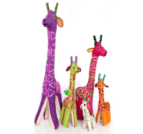 Twoolies Handmade Fair Trade Wool Giraffe - Stuffed Animals - Shop Nectar - 3
