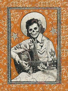Skeleton Guitar Girl Magnet - assorted-styles, Day of the Dead, magnet, magnets, Mexico, Oddities - Trinkets - Treasures, Odds & Ends