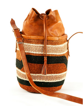 Fair Trade Hand Woven Earthy Cinch Top Purse - accessories, accessory, Adjustable, africa, African, bag, bags, bags-clutches-wallets, bags-purses, Bohemian, bohemian-chic, boho, Boho Chic, chic, colorful, day, days, eco, eco friendly, fair, fair-trade, for her, Gift, gifts, hand bag, Hand Woven, handmade, leather, mother, mothers, purse, purses, shopping, Sustainable, sustainably, sustainably harvested, Tote, Totes, trade