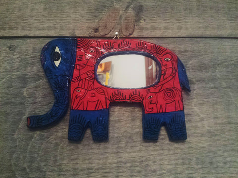 Hand-Painted Fair Trade Elephant Mirror