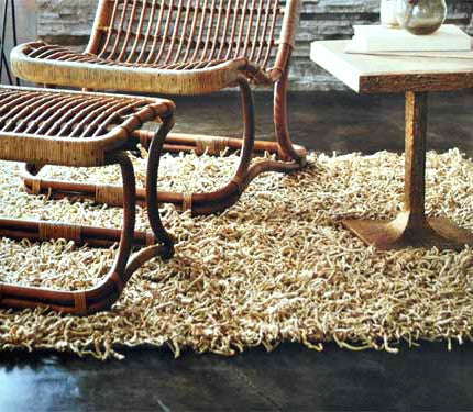 Roost Shaggy Hemp Rug - accent-details, assorted-styles, decor, Hemp, Natural, Roost, rugs-runners, Shag