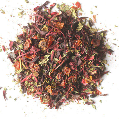 "Organic ""Hibiscus Cooler"" Loose Leaf Tea - coffee-teaware, Divinitea, Gift, herbal tea, kitchen-dining, loose-leaf-tea, non-caffeinated, organic, Staff Picks : Sweets & Savories, sweets-savories, tea"