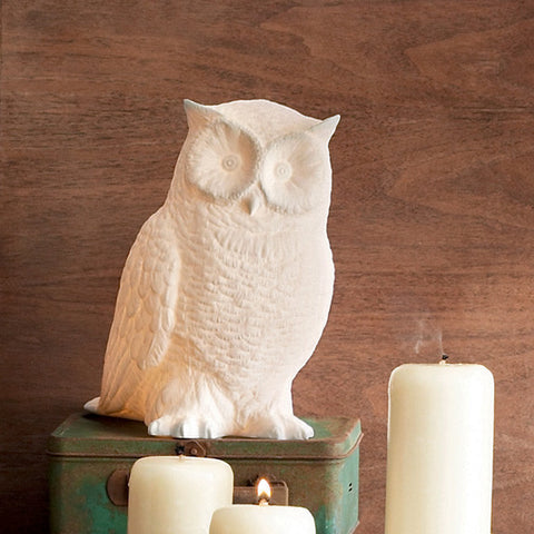 Roost Great Horned Owl Lamp - baby-shower-gifts, gifts-for-the-occasion, kids-lamps, Owl, Porcelain, room-decor, Roost