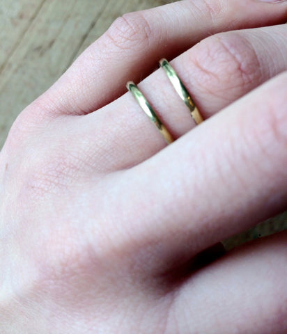 Meyelo Fair Trade Thin Brass Stacking Ring - Rings - Shop Nectar - 2