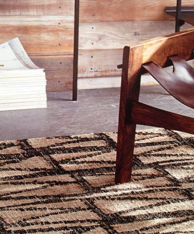 Roost Jag Jute Dhurrie Rug - accent-details, Almond, Brown, decor, Earth Tones, India, Jute, rugs-runners, Tan, Zig Zag