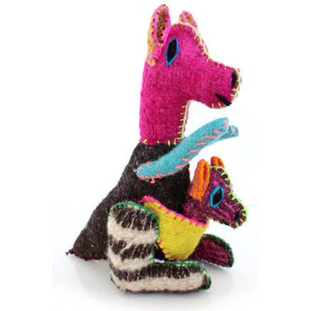 Twoolies Handmade Fair Trade Wool Kangaroo - assorted-styles, dolls-stuffed-animals, fair-trade, handmade, Kangaroo, room-decor, stuffed-animals, Twoolies, Wool