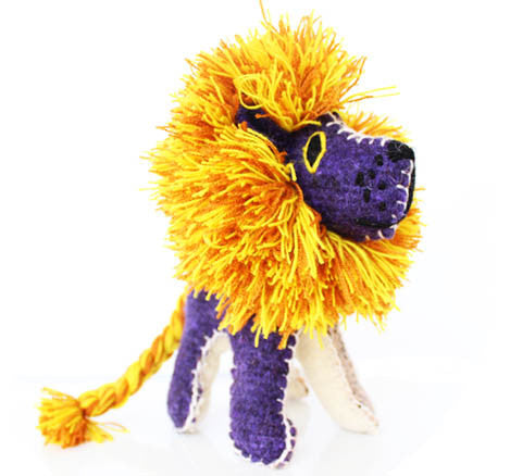 Twoolies Handmade Fair Trade Wool Lion - Stuffed Animals - Shop Nectar - 1
