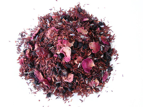 "Tay Tea ""A Day in Provence"" Loose Leaf Blend - assorted-styles, blend, blended, coffee-teaware, day, Floral, Gift, gifts, hand, herbal, herbal tea, kitchen-dining, lavendar, loose-leaf-tea, mothers, non-caffeinated, organic, Rooibos, Rose, sweets-savories, Tay Tea, tea, teas"