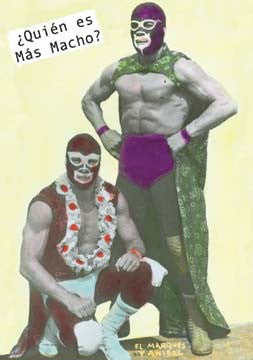 Macho Mexican Wrestling Magnet - magnet, magnets, Mexico, Oddities - Trinkets - Treasures, Odds & Ends