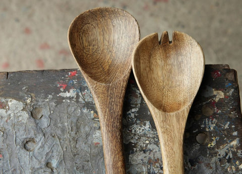 Nkuku Fair Trade Mango Wood Salad Servers