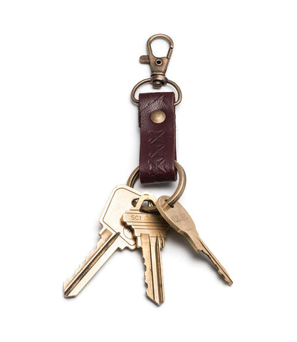 sustainable leather key chain fair trade key fob shop small