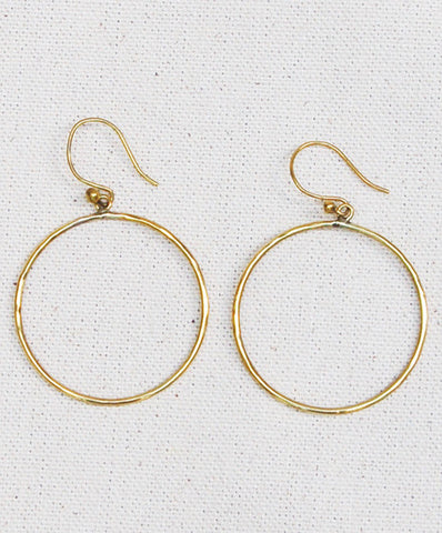 Meyelo Brass Circle Hoop Fair Trade Earrings - bohemian-chic, Boho Chic, brass, clean-water, earrings, Eco, eco-friendly, education, fair trade jewelry, fair-trade, gifts-for-her, gifts-for-the-occasion, hoops, jewelry, Meyelo, supporting-women