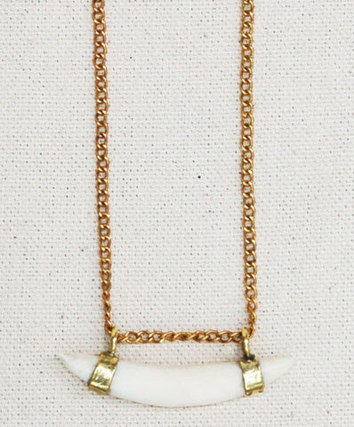 Meyelo Fair Trade Bone Pendant Necklace - Necklaces - Shop Nectar