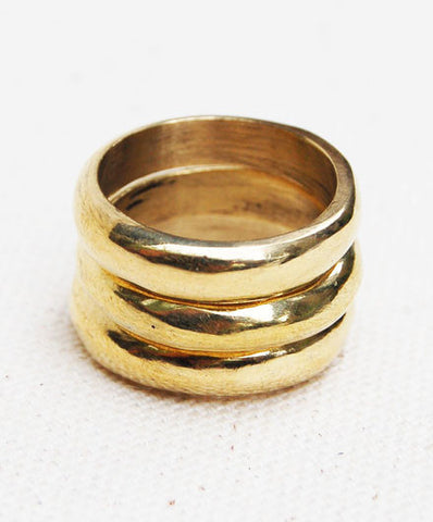 Meyelo Fair Trade Chuka Stackable Rings - accessories, brass, clean-water, day, Eco, eco-friendly, education, fair-trade, gift, gifts, gifts-for-her, Handcrafted, her, jewelry, Kenya, locally sourced, Meyelo, meyelo ring, mothers, raw, recycled, rings, Stacking Rings, supporting-women, up-cycle