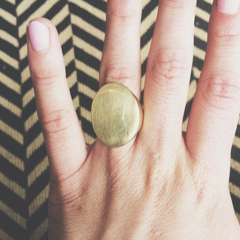 Meyelo Fair Trade Brass Mudavadi Ring - accessories, assorted-styles, brass, clean-water, day, Eco, eco-friendly, education, fair trade jewelry, fair-trade, gift, gifts, Handcrafted, handmade, her, jewelry, Meyelo, mothers, recycled, rings, supporting-women