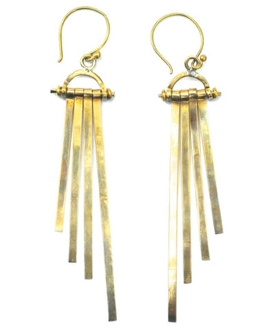 Meyelo Fair Trade Sunrise Brass Earrings - Drop Earrings - Shop Nectar - 2