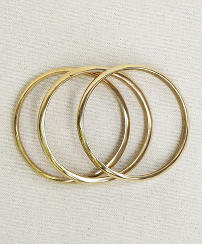 Meyelo Simple Brass Fair Trade Bangles - Bangles - Shop Nectar - 2